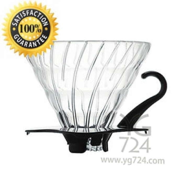 V60 Glass Dripper Black